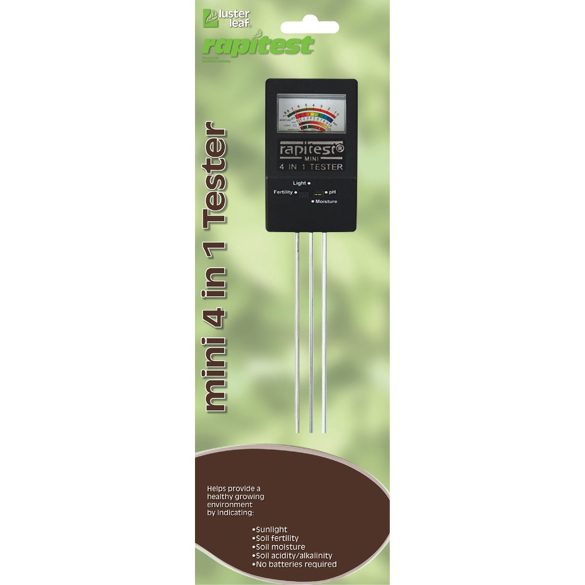 4IN1 MINI PLANT TESTER - 1818 by Luster Leaf Prod Inc