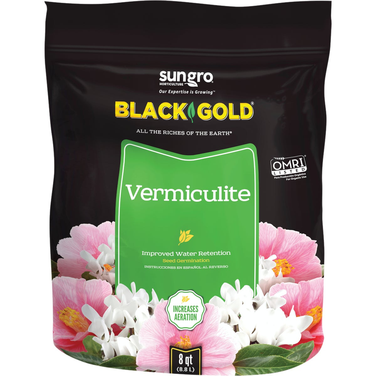 8QT VERMICULITE - G208 by Plantation Products