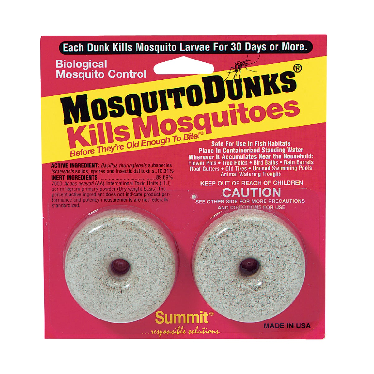 2PK MOSQUITO DUNKS - 102-12 by Summit Chemical Co