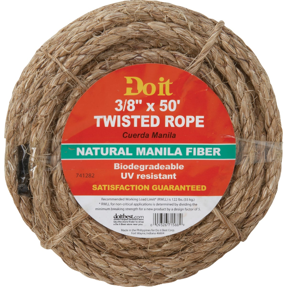 "3/8""X50' MANILA ROPE - 741282 by Do it Best"