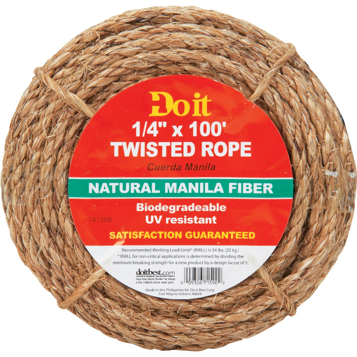 "1/4""X100' MANILA ROPE - 741308 by Do it Best"