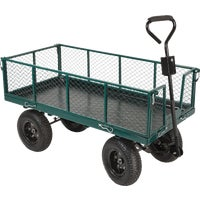 Best Garden Steel Garden Cart With Collapsible Sides