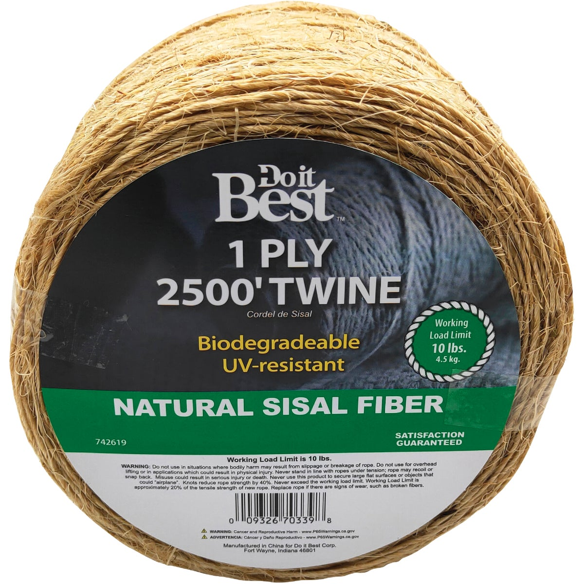 2500' 1PLY SISAL TWINE - 742619 by Do it Best