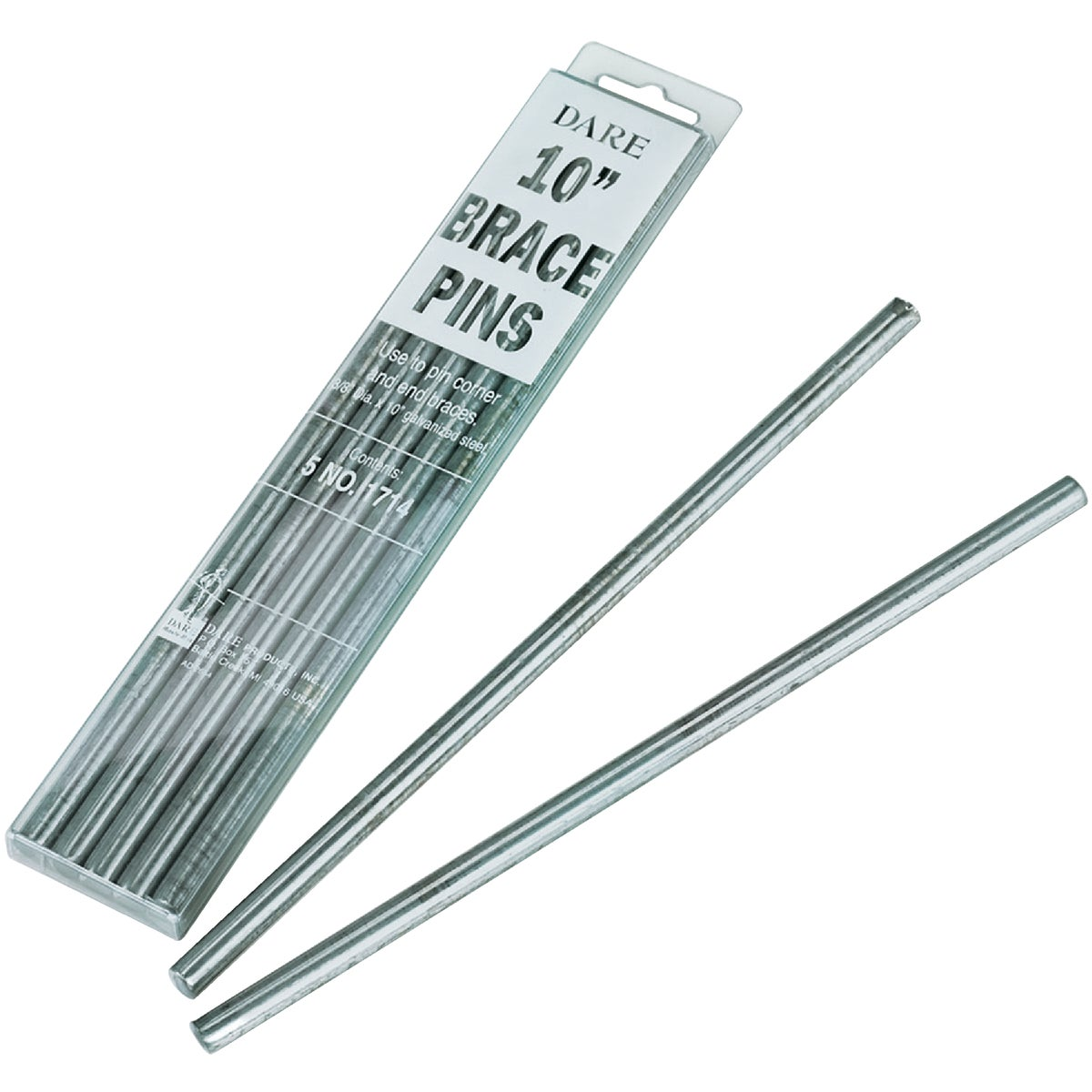 "5PC 10"" BRACE PINS - 1714-5 by Dare Products Inc"