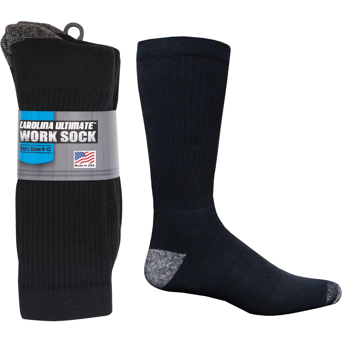 3PK BLK LG AT WORK SOCK