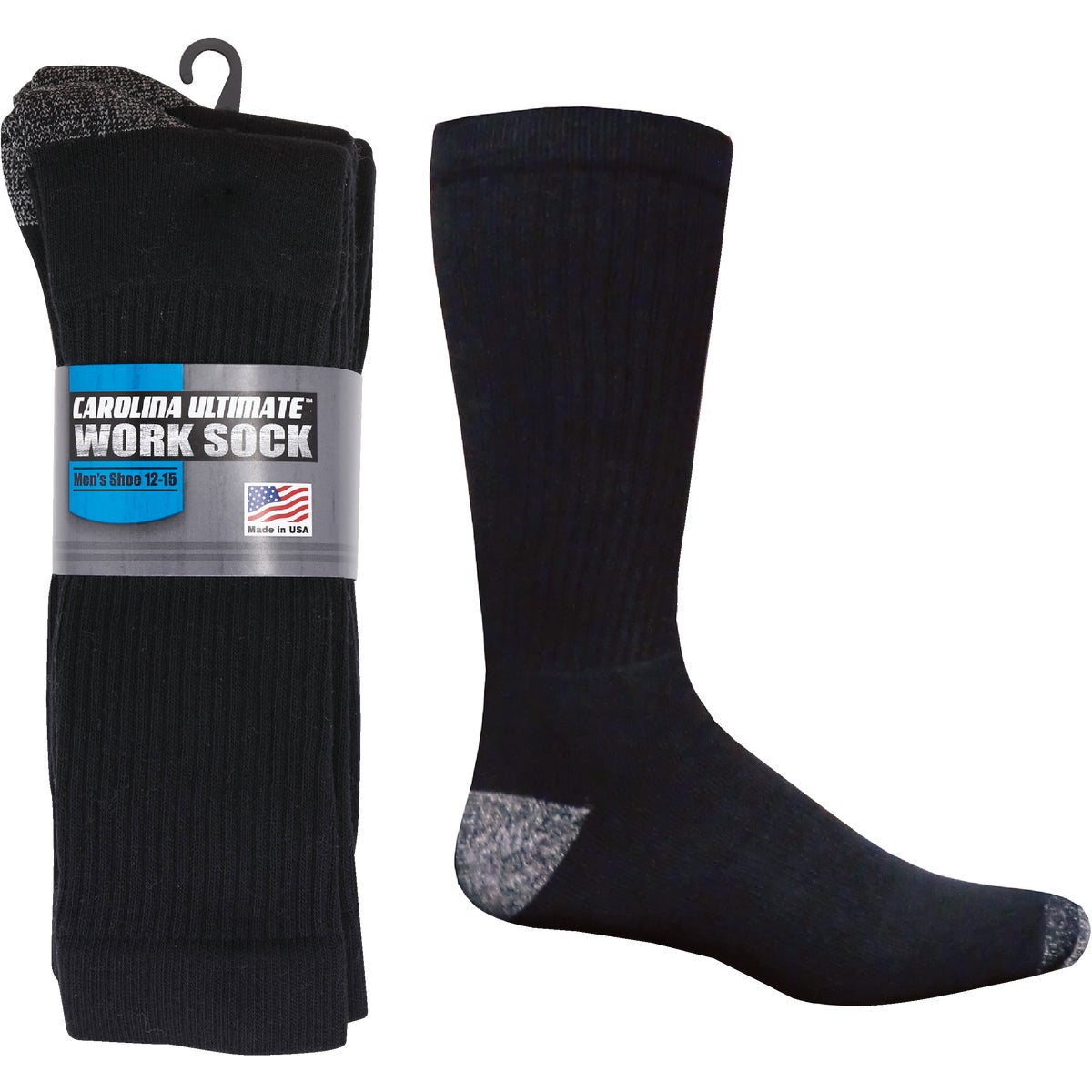 3PK BLK XL AT WORK SOCK