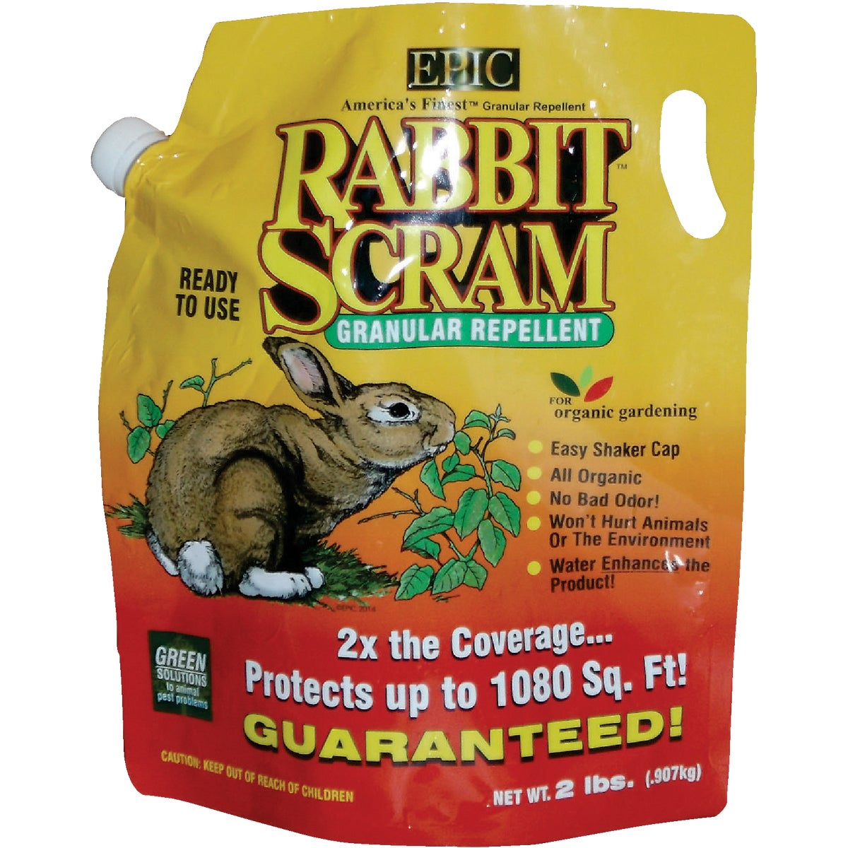 Enviro Pro 11003 Rabbit Scram Repellent Granular Shaker Can, 2.5 Pounds