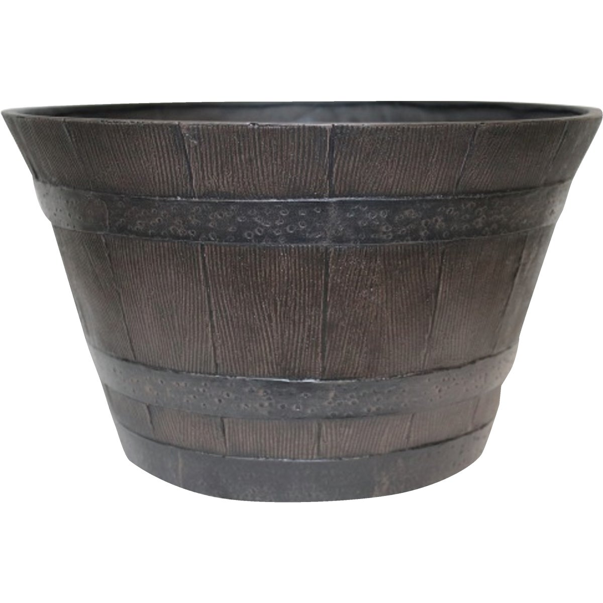 "22"" WHISKEY BARREL PLNTR - HDR-002550 by Southern Patio"
