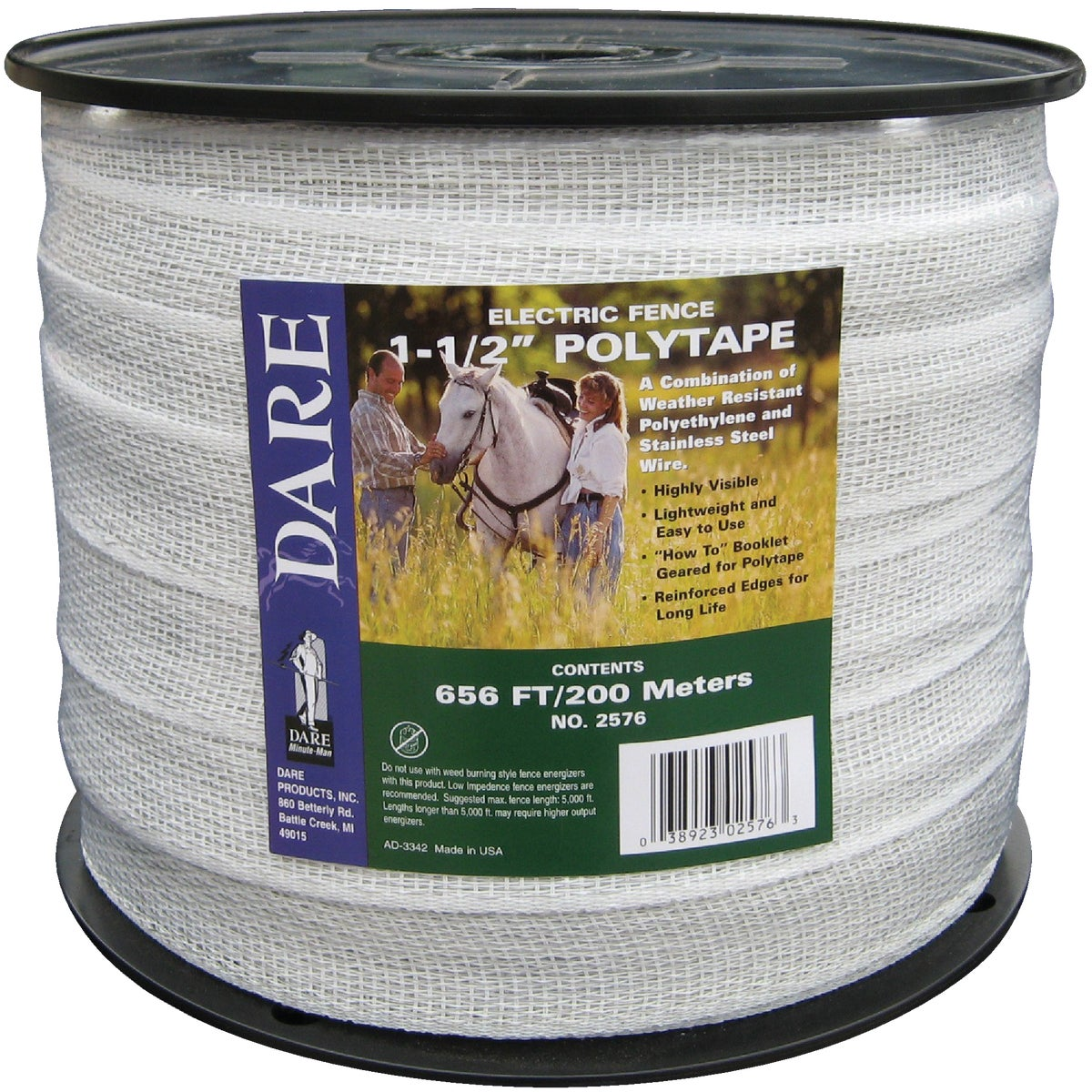 "1-1/2""X656' POLYTAPE - 2576 by Dare Products Inc"