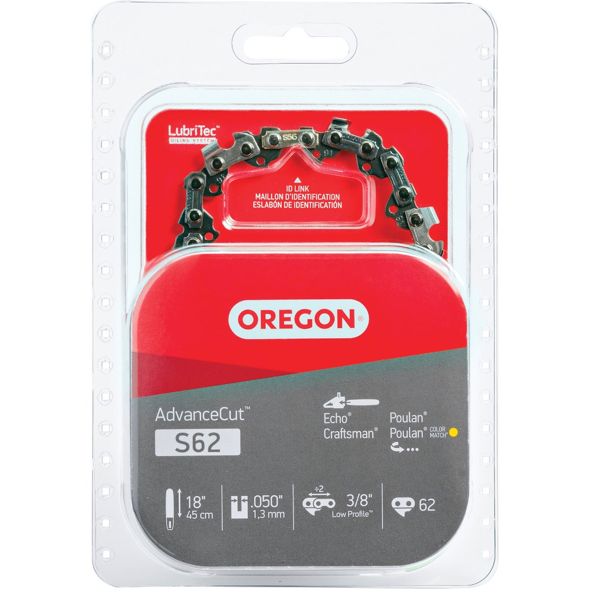 "18"" REPL SAW CHAIN - S62 by Oregon Cutting Systm"