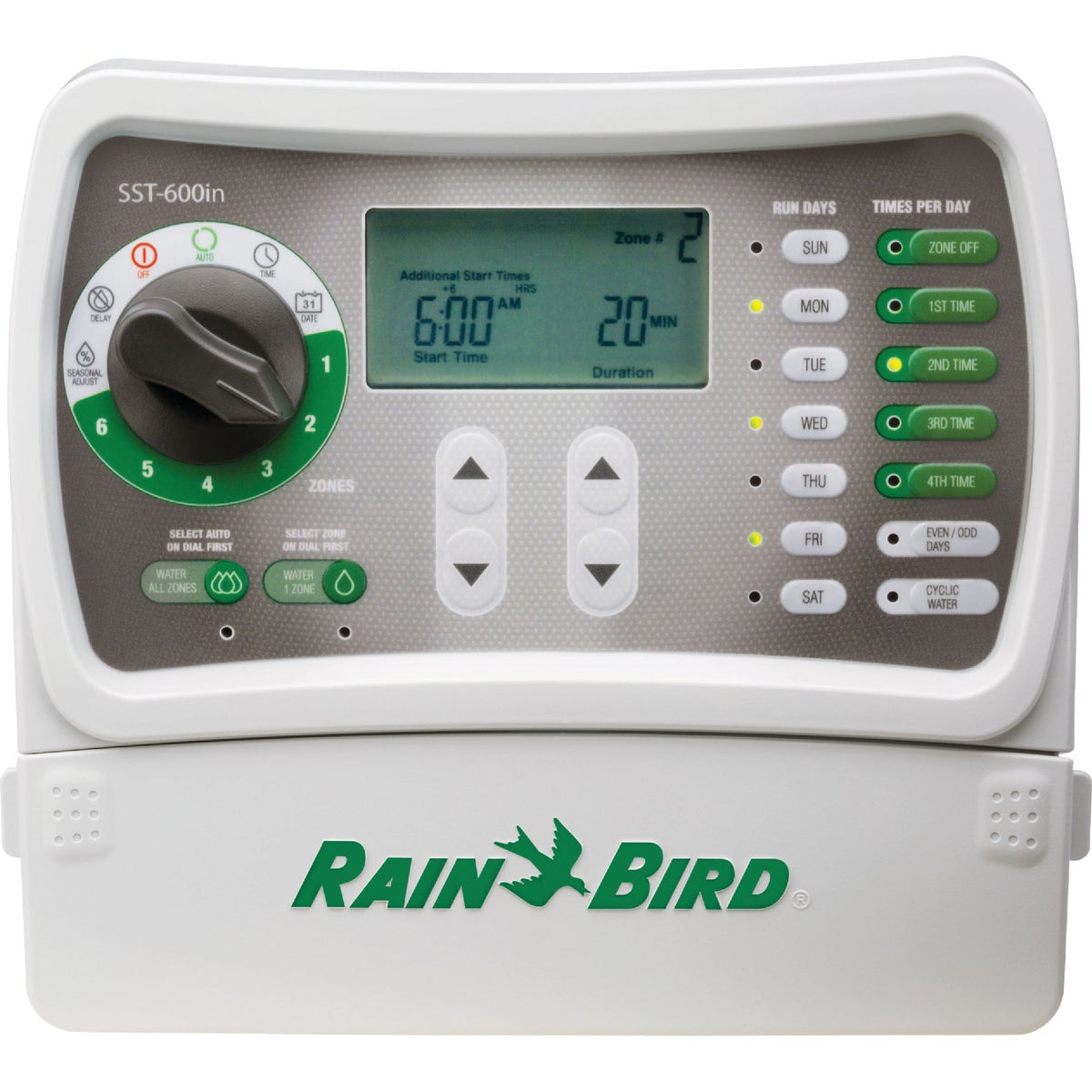 6 STATION TIMER - SST-600I by Rain Bird Corp Consu