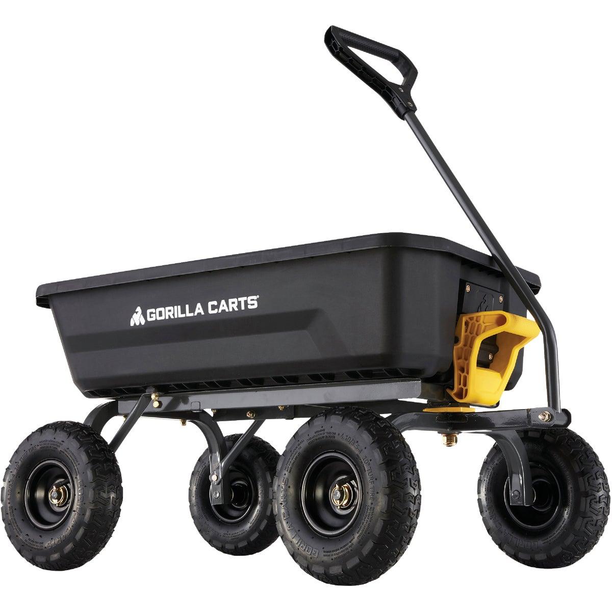 Gorilla Carts GOR200B Poly Garden Dump Cart with Steel Frame and 10-Inch Pneu...