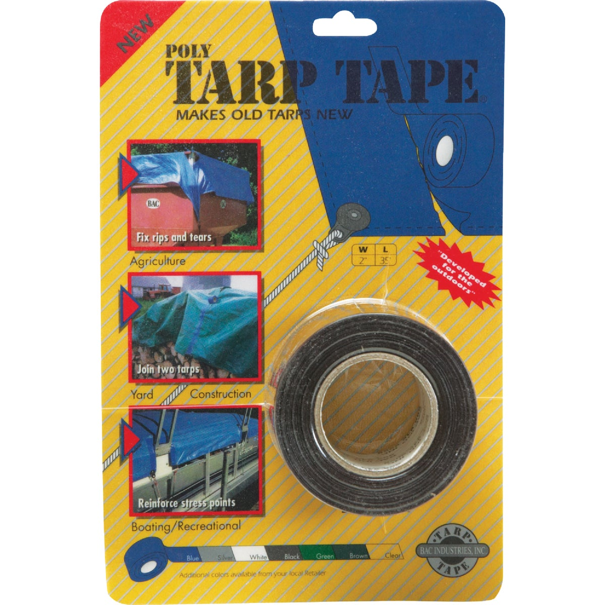 "2""X35' BROWN TARP TAPE - TTBR by Gosport Mfg Co"
