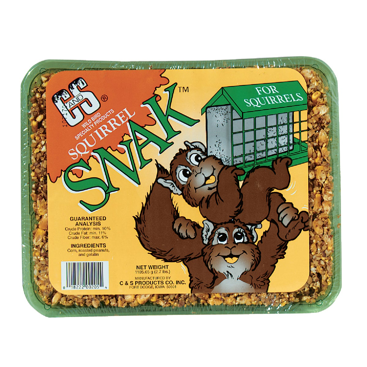 SQUIRREL SNAK CAKE - 06205 by C & S Products Inc