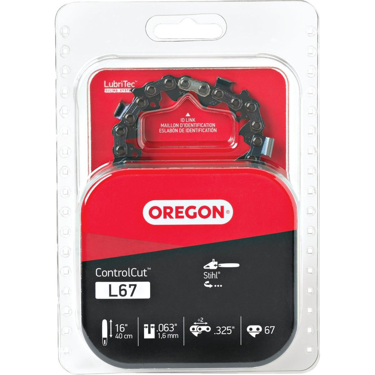"16"" REPL SAW CHAIN - L67 by Oregon Cutting Systm"