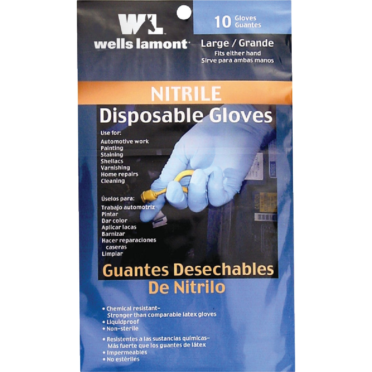 10PK NITRILE GLOVE - 97L by Wells Lamont