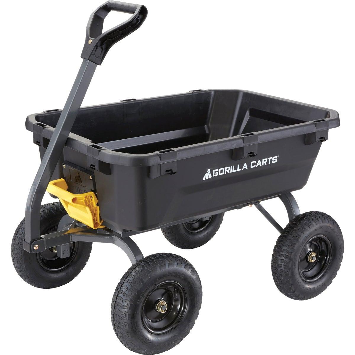 Gorilla Carts Poly Tow-Behind Garden Cart, GOR6PS