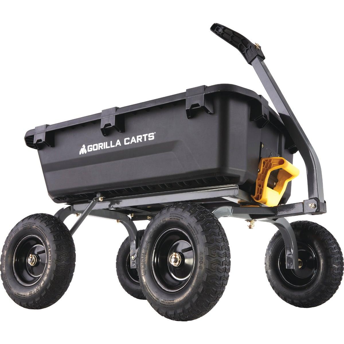 Gorilla Carts Poly Tow-Behind Garden Cart, GOR10