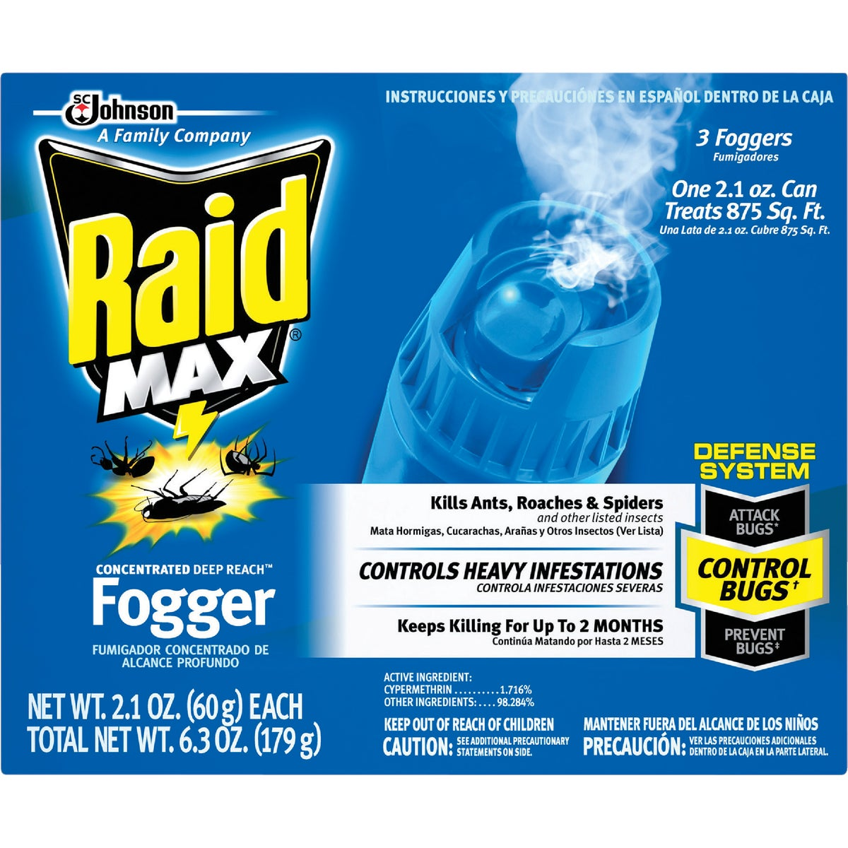 RAID MAX FOGGER - 12565 by Sc Johnson
