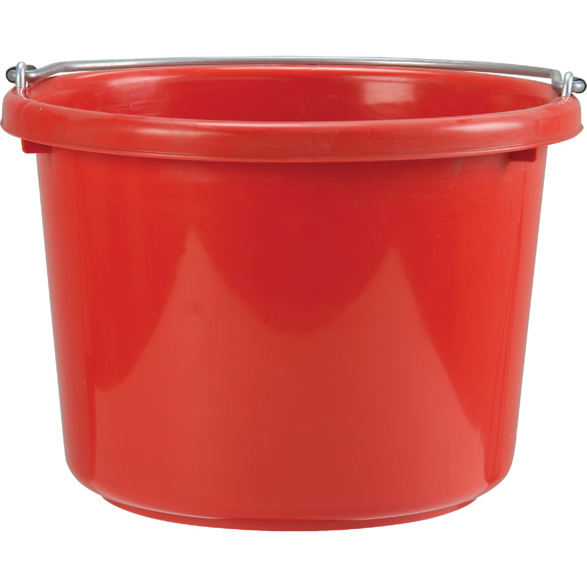 8Qt Red Poly Bucket
