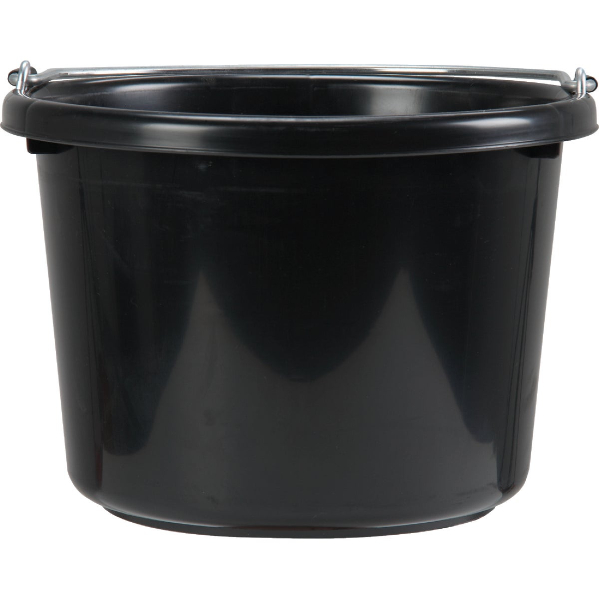 8QT BLACK POLY BUCKET - P8BLACK by Miller Manufacturing