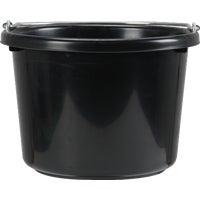 8Qt Black Poly Bucket