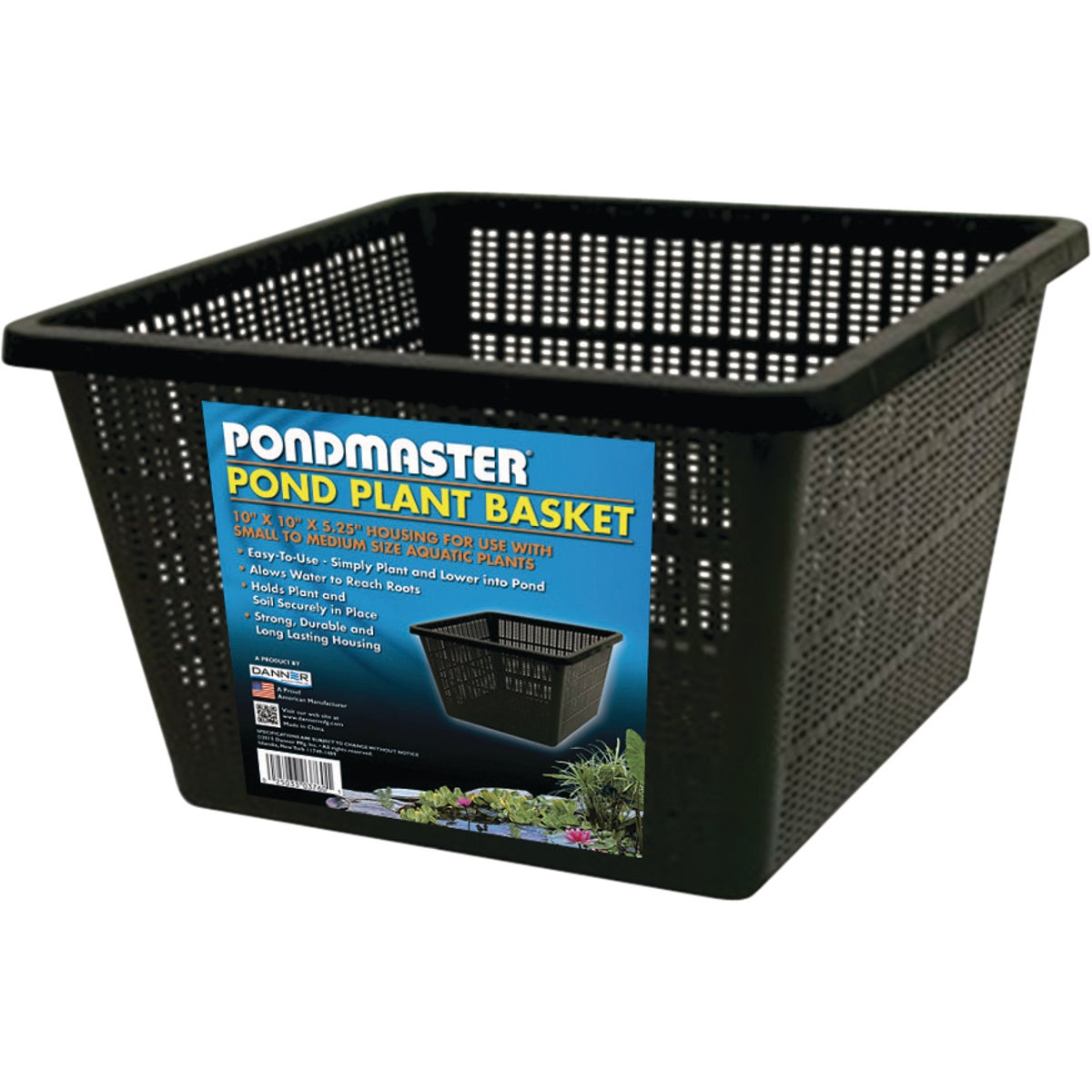 "10"" SQUARE PLANT BASKET - DPB10 by Geo Global Partners"