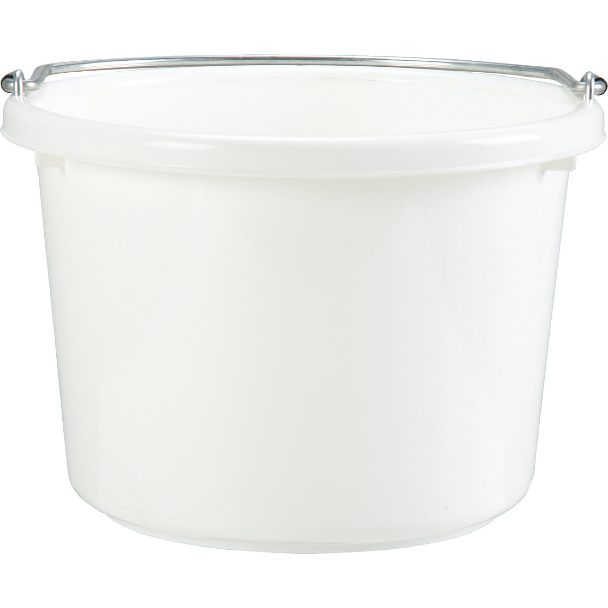 8QT WHITE POLY BUCKET - P8WHITE by Miller Manufacturing