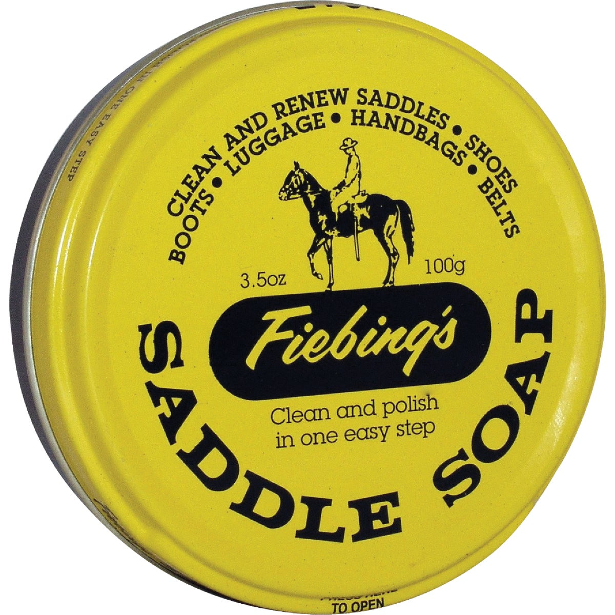 3OZ YEL PTE SADDLE SOAP - SOAP81T003Z by Fiebing