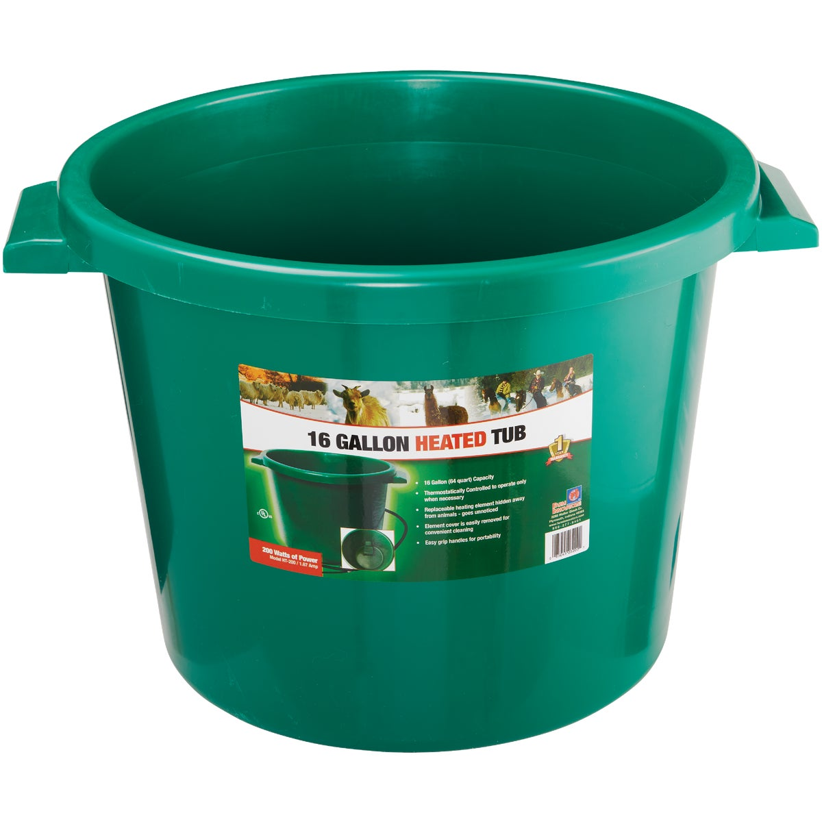 16GAL HEATED BUCKET - 16HB by Miller Manufacturing