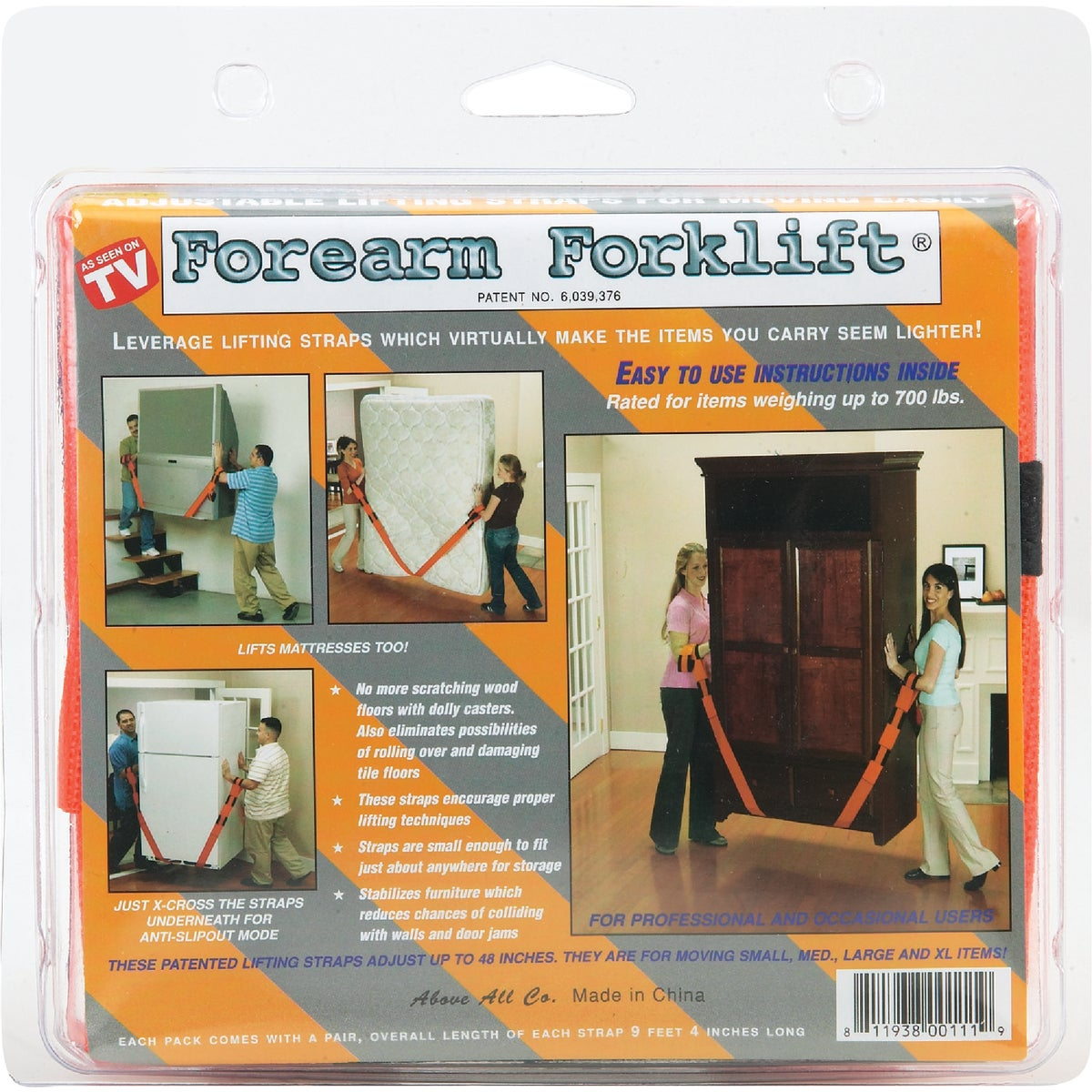 FOREARM FORKLIFT STRAPS - L74995CN by Above All