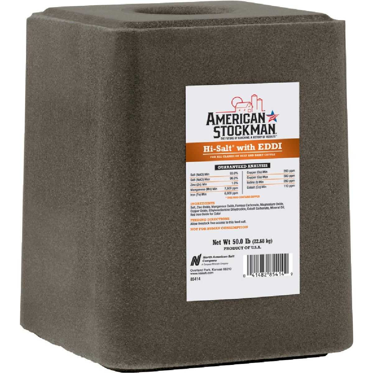 50LB TM W/EDDI BLOCK - 85414 by North American Salt