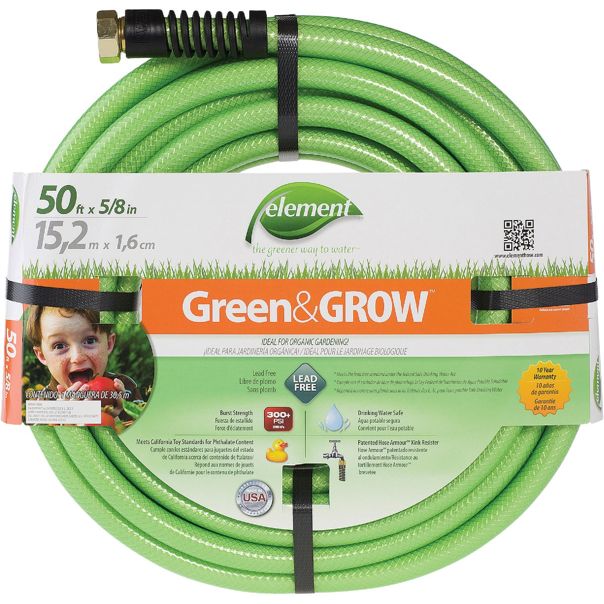 "5/8""X50' GREEN GROW HOSE - ELGG58050 by Colorite  Swan"