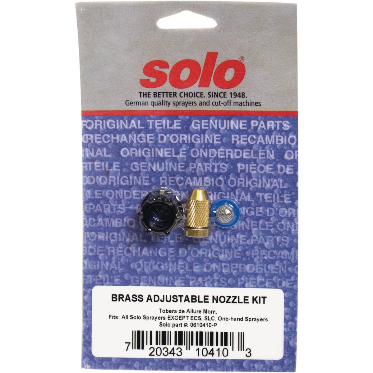ADJ BRASS NOZZLE KIT - 0610410P by Solo Inc