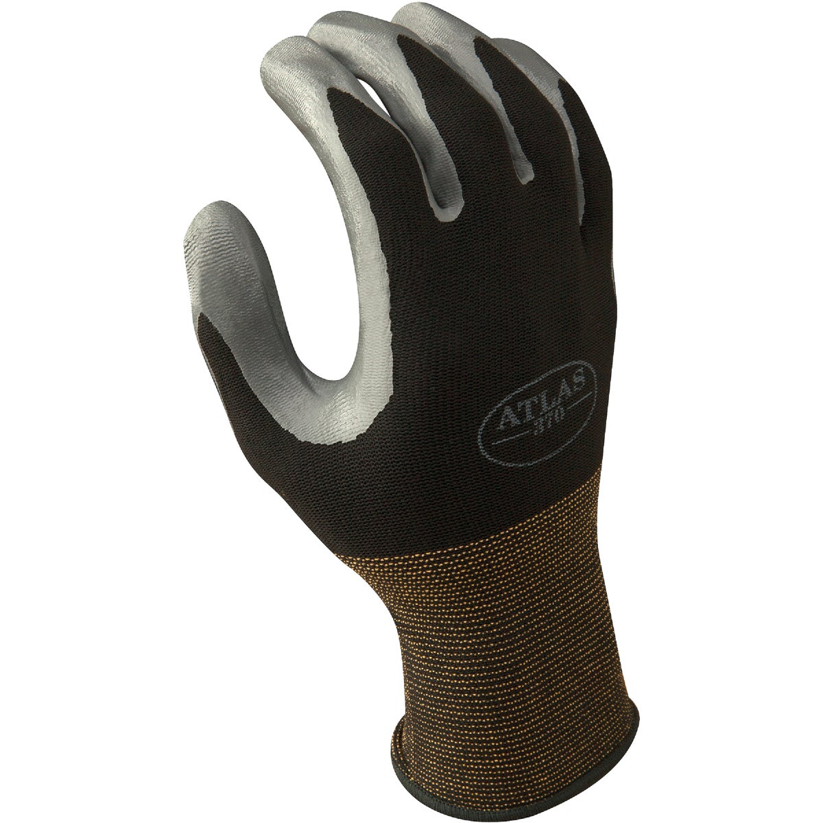 LRG BLK NITRILE GLOVE - 370BL-08.RT by Showa Best Glove