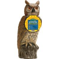Gardeneer Natural Enemy Scarecrow Solar Owl Pest Deterrent Decoy, SRHO-4