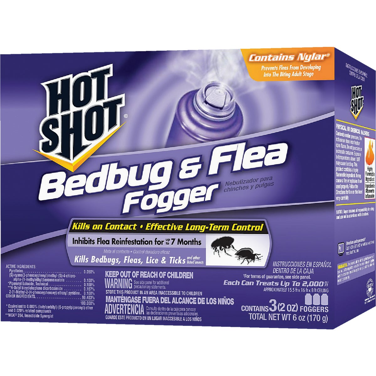 3PK BEDBUG & FLEA FOGGER - HG95911 by United Industries Co