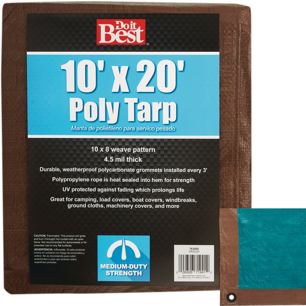 10X20 BR/GR M DUTY TARP - 763660 by Do it Best