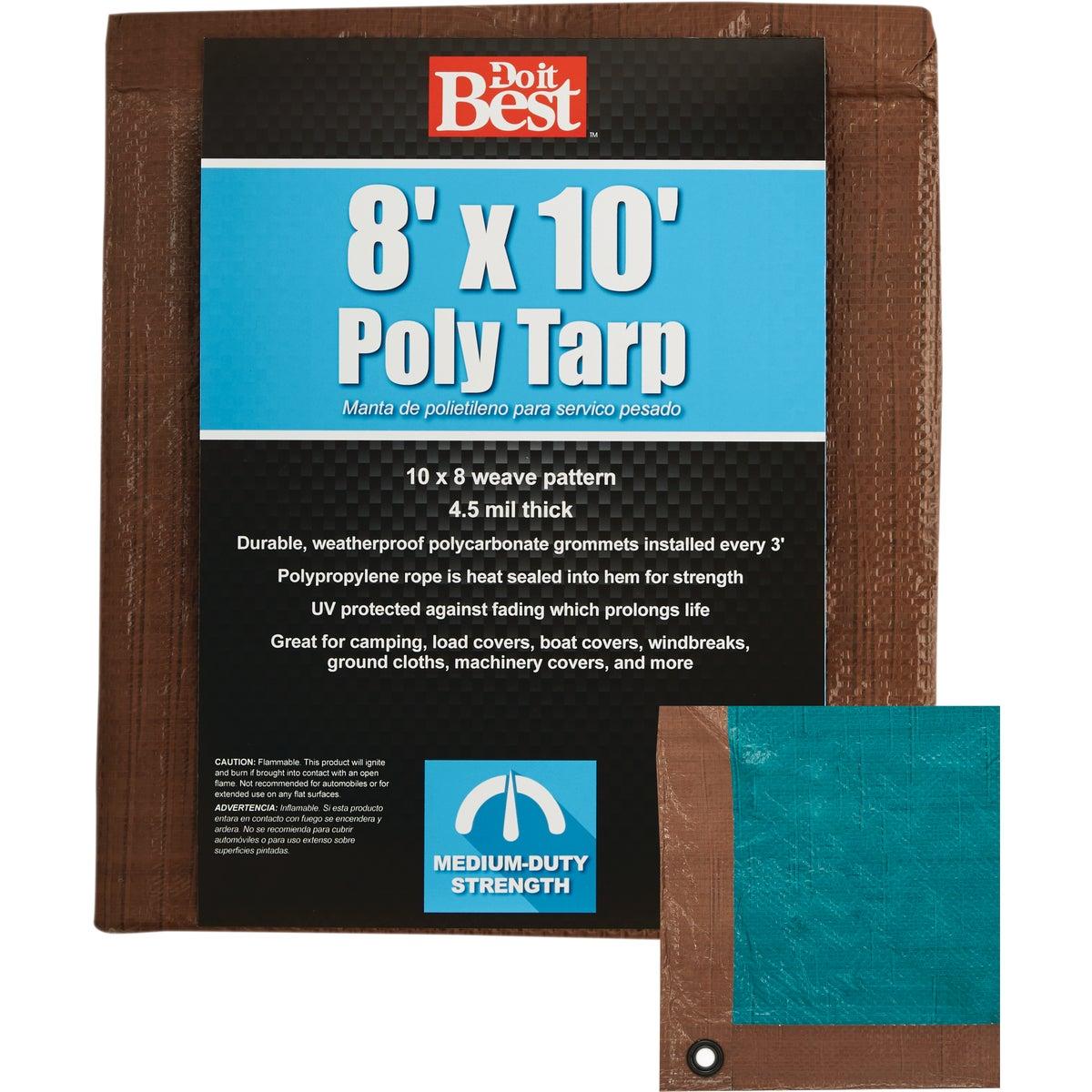 8X10 BR/GR MED DUTY TARP