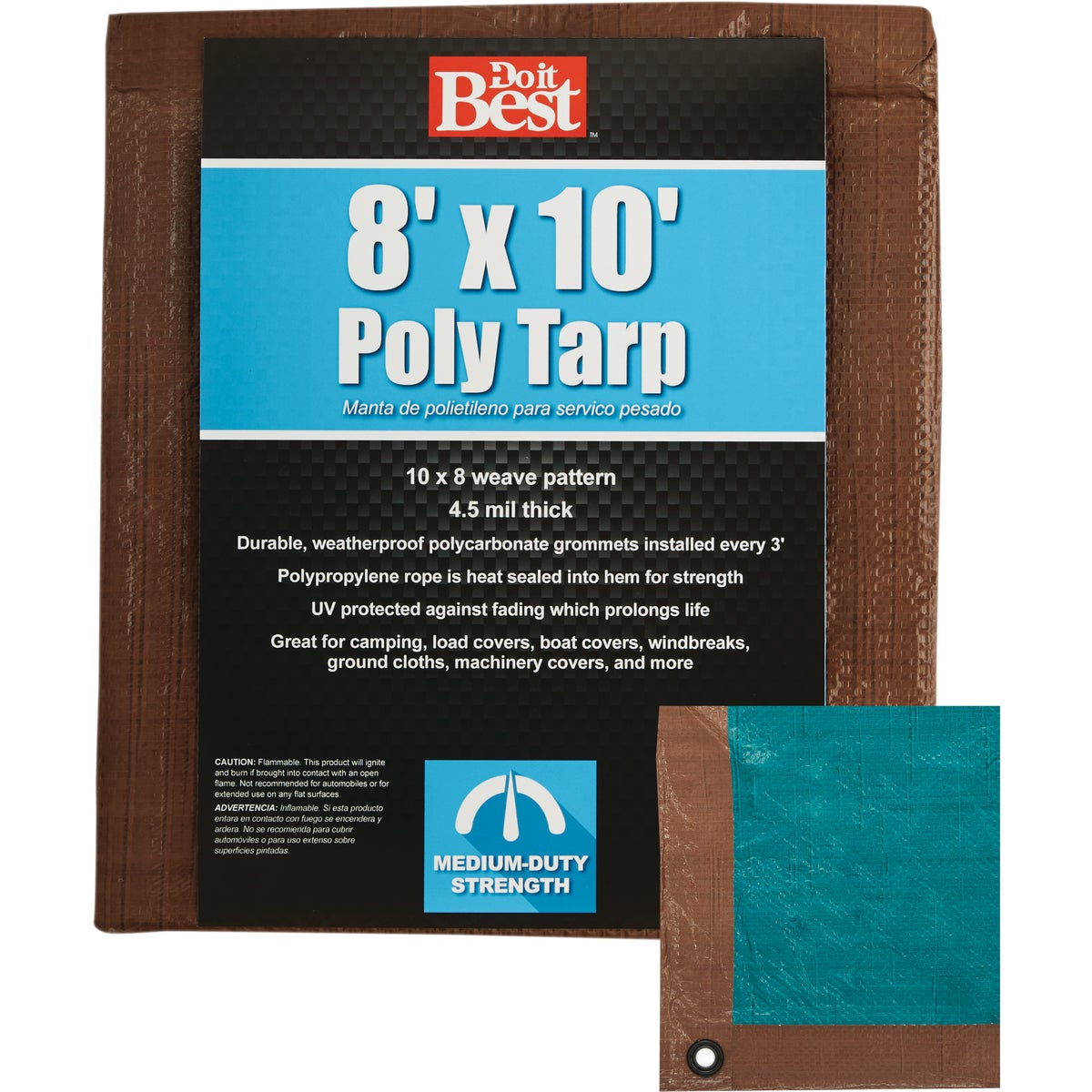 8X10 BR/GR MED DUTY TARP - 764345 by Do it Best