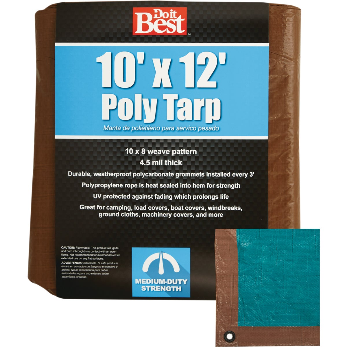 10X12 BR/GR MEDDUTY TARP - 764361 by Do it Best