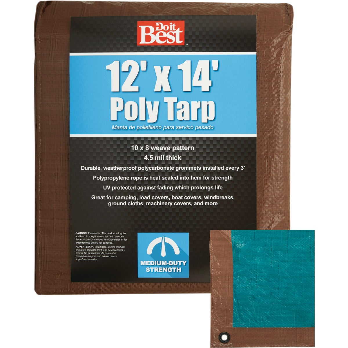 12X14 BR/GR MEDDUTY TARP - 764388 by Do it Best