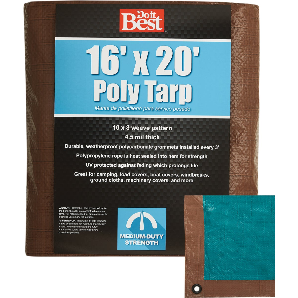 16X20 BR/GR MEDDUTY TARP - 764396 by Do it Best