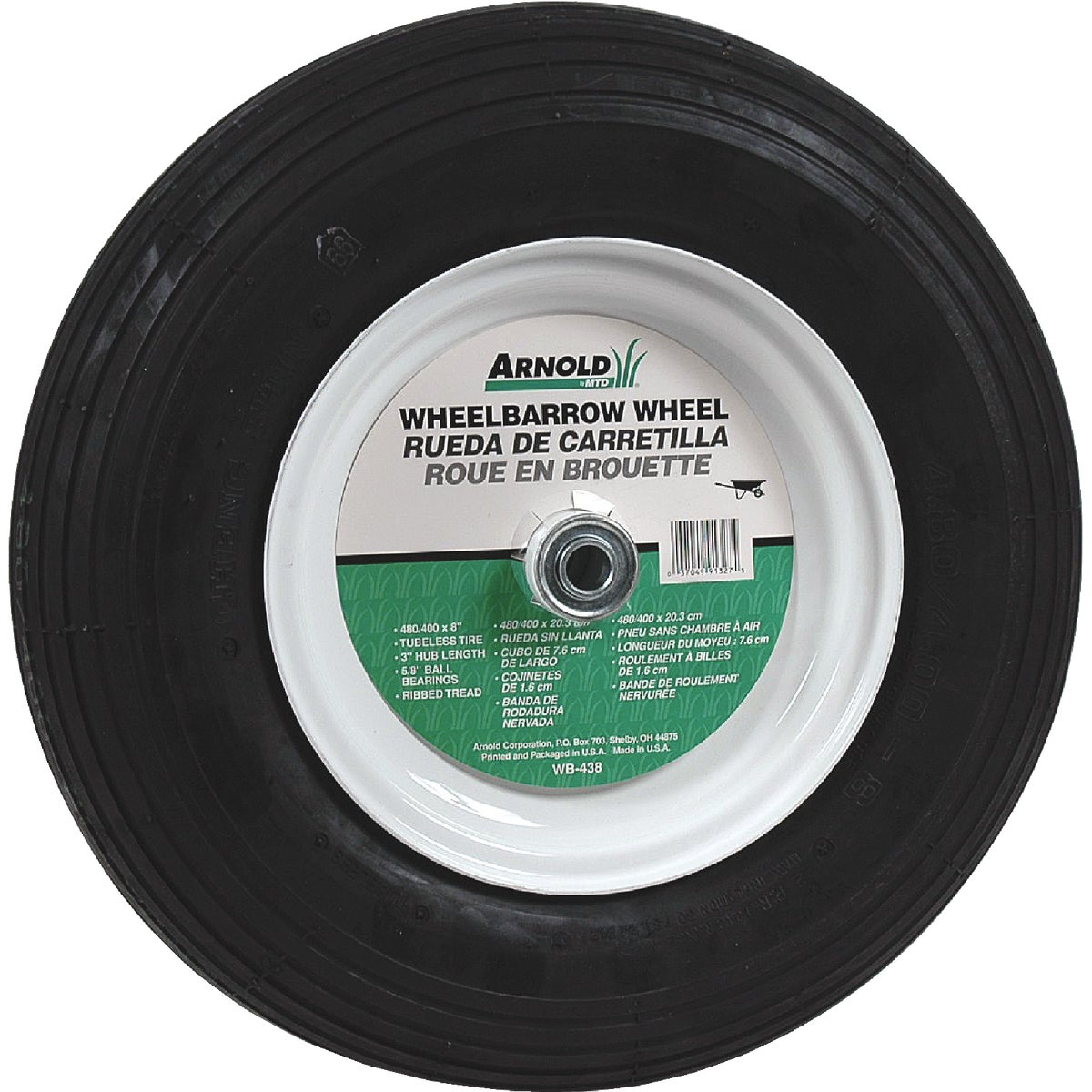 480/400X8 WHLBRW WHEEL - WB-438 by Arnold Corp