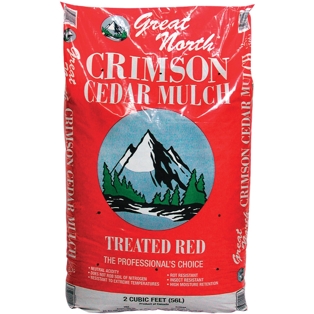 2CU FT RED CEDAR MULCH