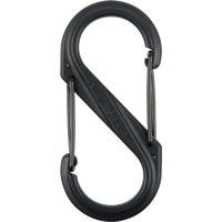 Nite Ize S-Biner Black Plastic S-Clip Key Ring, SBP4-03-01BG
