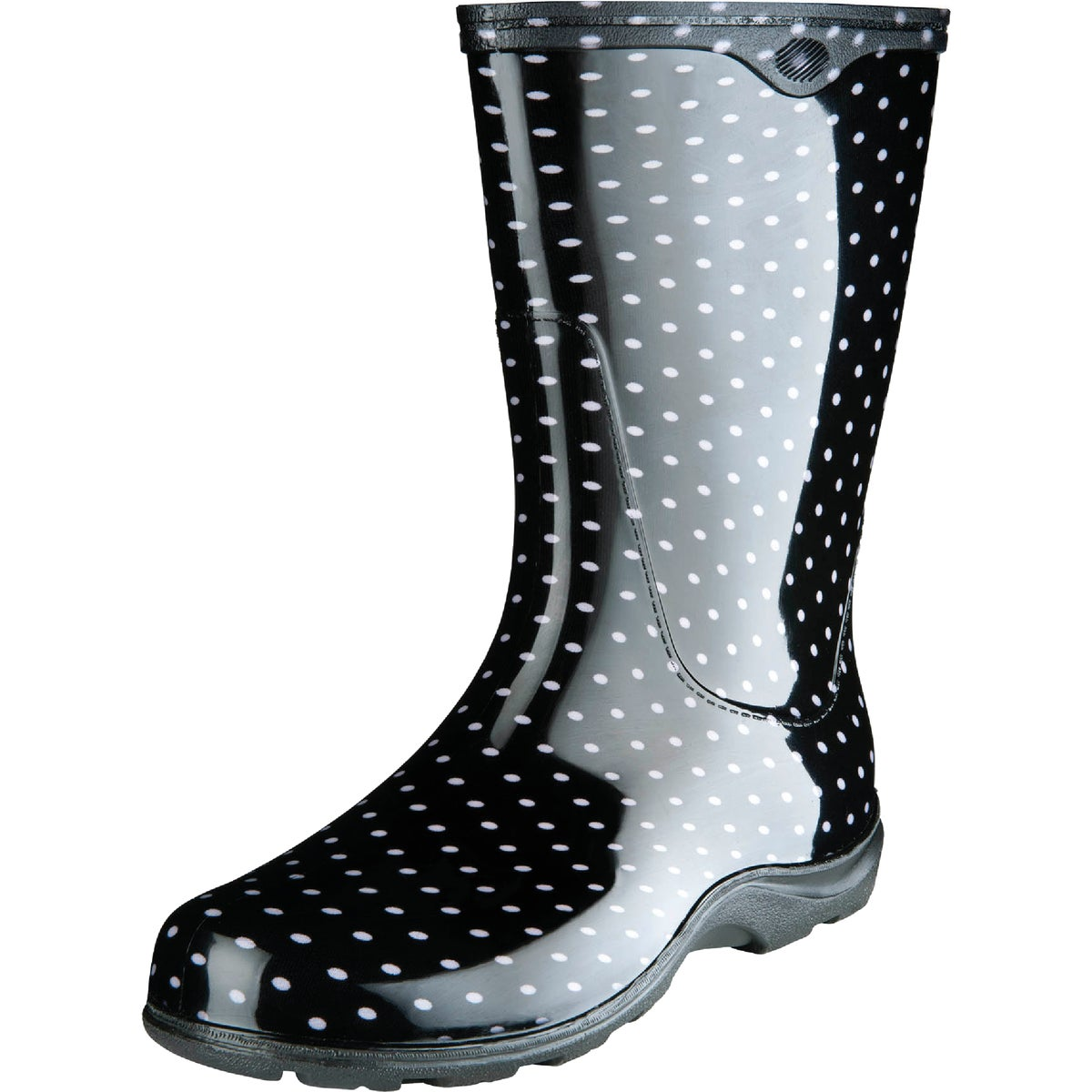 SZ 7 MID-BLACK TALLBOOT - 5002BK07 by Principle Plastics