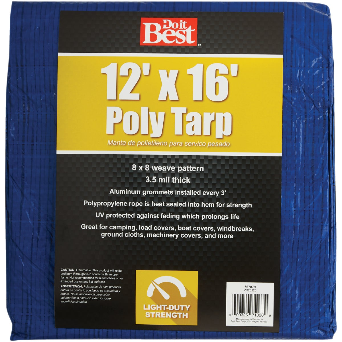 12X16 BLUE AP TARP - 767879 by Do it Best