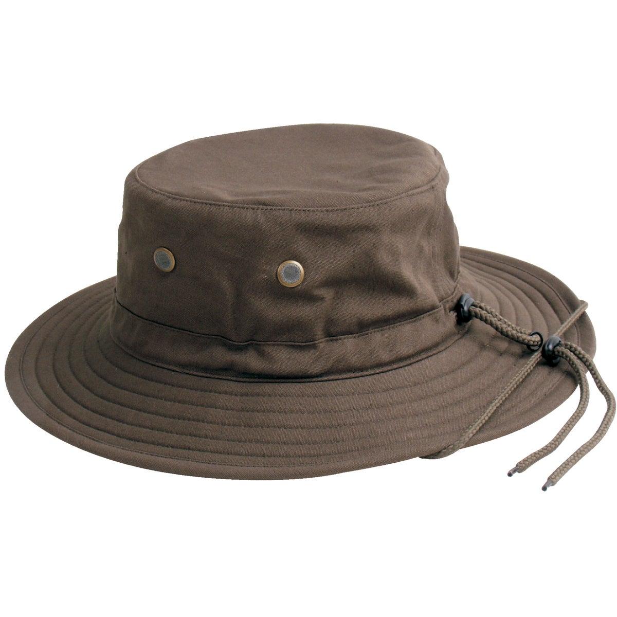 MENS DK BRN COTTON HAT
