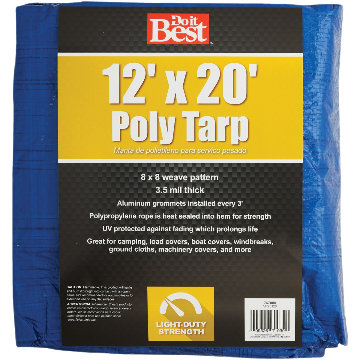 12X20 BLUE AP TARP